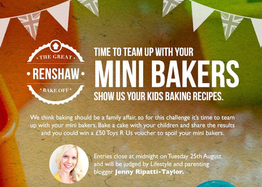 Renshaw Baking UK Bake Off Mini Bakers #minirenshawbakers