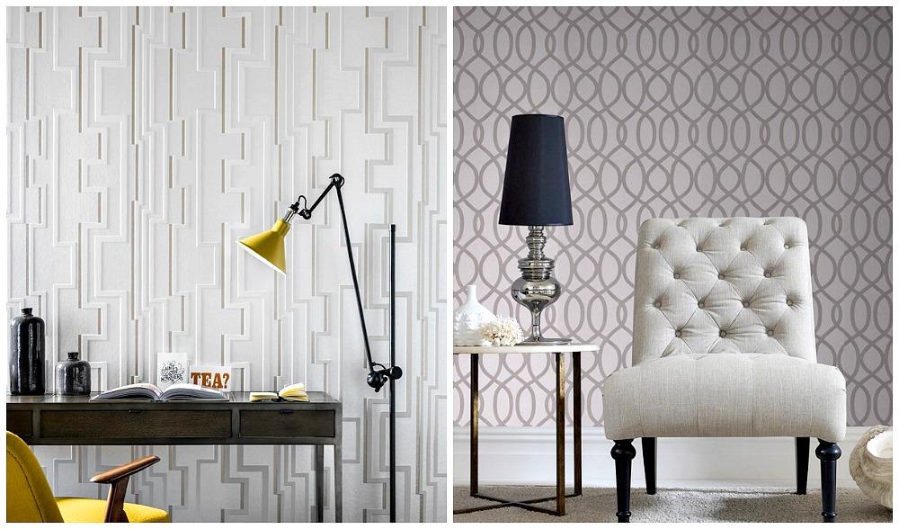 Graham & Brown Flock Wallpaper Industrial style