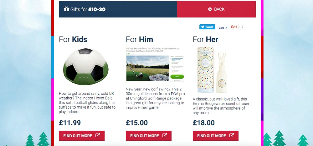 Gift ideas for him, for her, for kids £10-20 budget