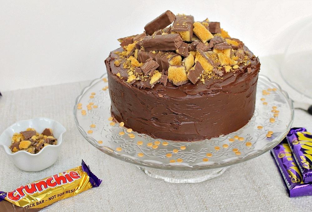 Cadbury Chocolate Crunchie Ice Cream Cake