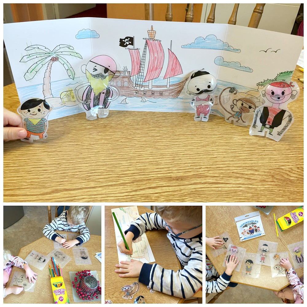 Little & Fierce Shrinkables Pirate kit kids crafts