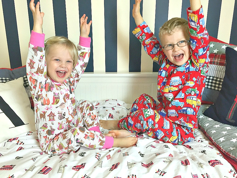 Monsoon UK nightwear children's pyjamas Siblings January 2016 a monthly family photo project