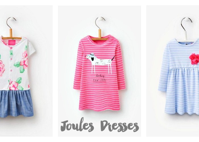 Showing off her personality in Joules Dresses
