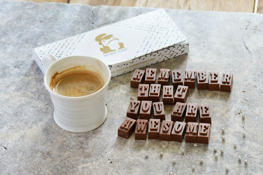 WIN a £15 gift voucher for Morse Toad Personalised Messaging Service written in Belgian Chocolate