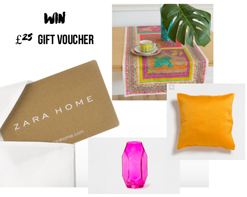 WIn £25 Gift voucher to Zara Home competition giveaway