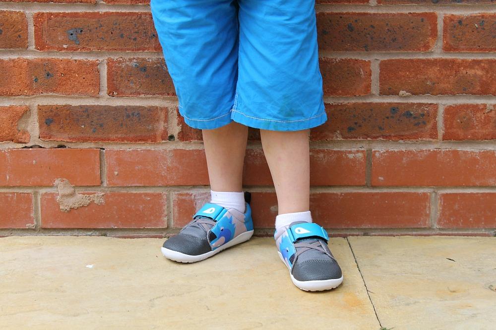 My kids kicking with Bobux shoes Britmums Live Sponsor