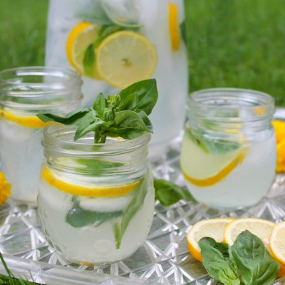 Gin Lemonade & Basil – Summer Cocktails