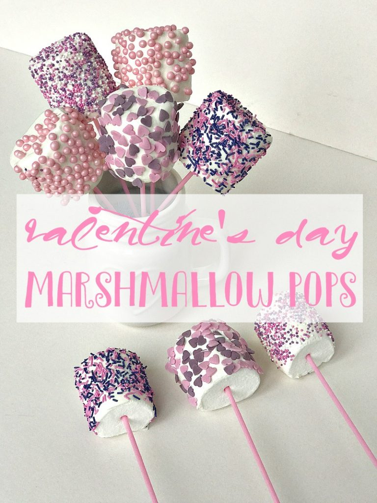 Valentine's Day Marshmallow Pops easy kids reicipes
