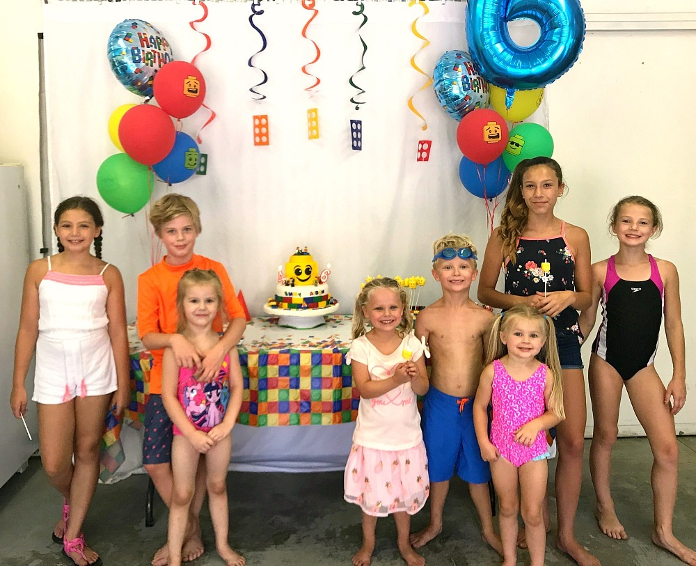 Lego themed birthday party for sixth birthday celebrations