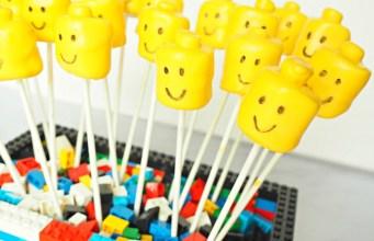 Kid's Birthday Party Lego Marshmallow Pops