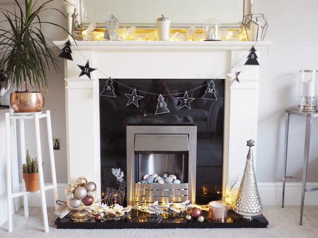 Decorating A Christmas Fireplace