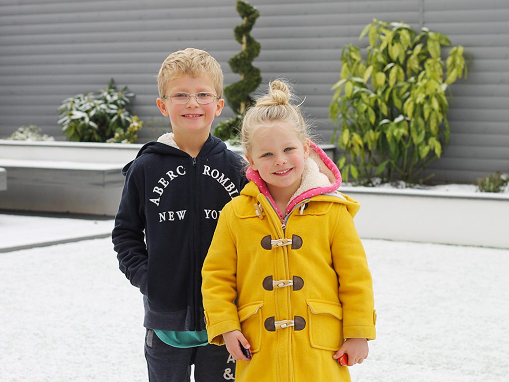 Year of Siblings 2017 December Siblings Project snow day