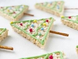 Rice Krispy Treats Christmas Trees recipe for kids