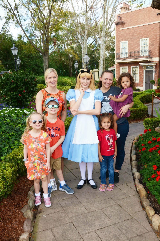 Disney World Alice in Wonderland friends