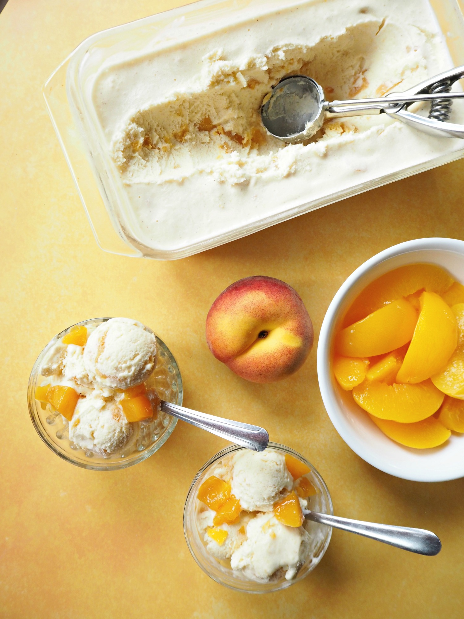 Chunky Peach Ice Cream recipe