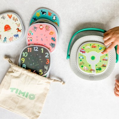 A different kind of kid's audio player for learning featuring TIMIO