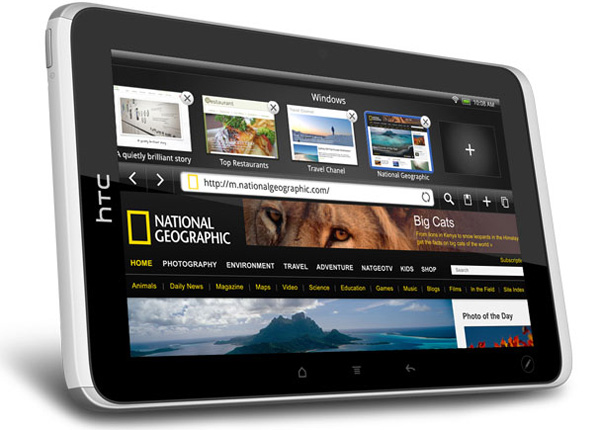 Android based HTC Flyer tablet pc