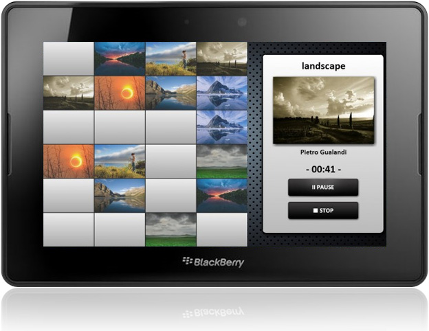Blackout memory game for PlayBook