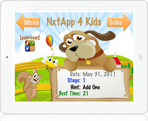 NxtApp 4 kids iPad math game