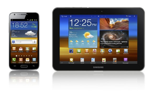 Samsung Galaxy Tab 8.9 LTE & Galaxy S II LTE smartphone