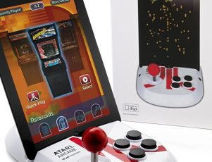 Atari Arcade-Duo powered joystick for iPad