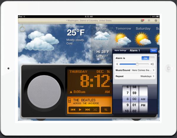 Alarm Clock app for iPad