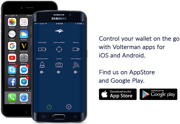 Volterman mobile apps for Android and iOS
