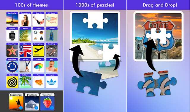 100 PICS Puzzles Jigsaw game for Android