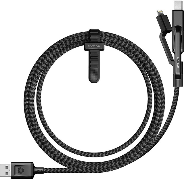 Nomad Ultra Rugged Universal Micro USB and USB Type-C charging cable