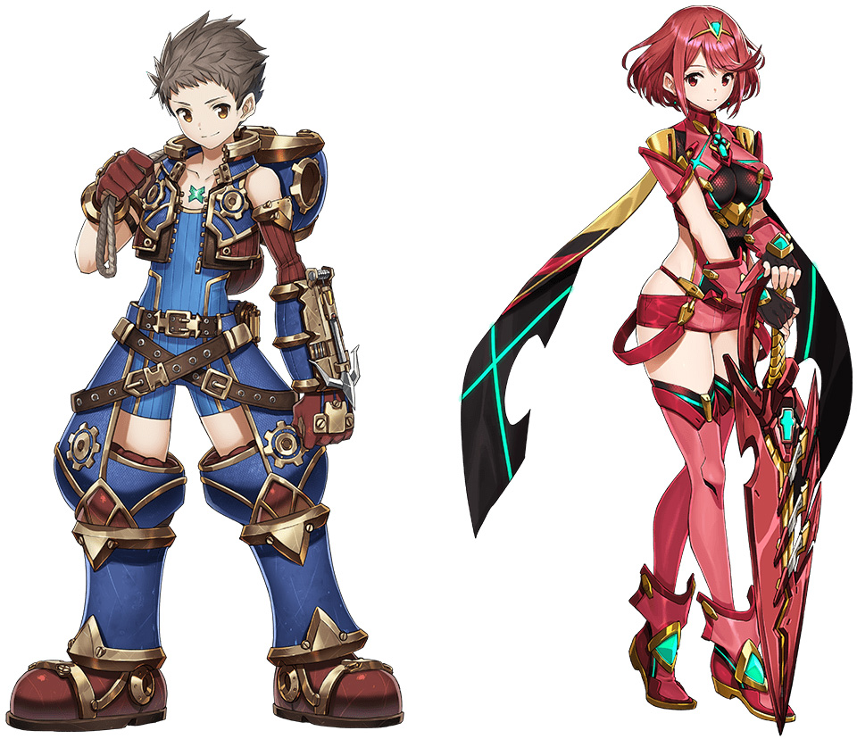 Rex and Pyra characters Xenoblade Chronicles 2