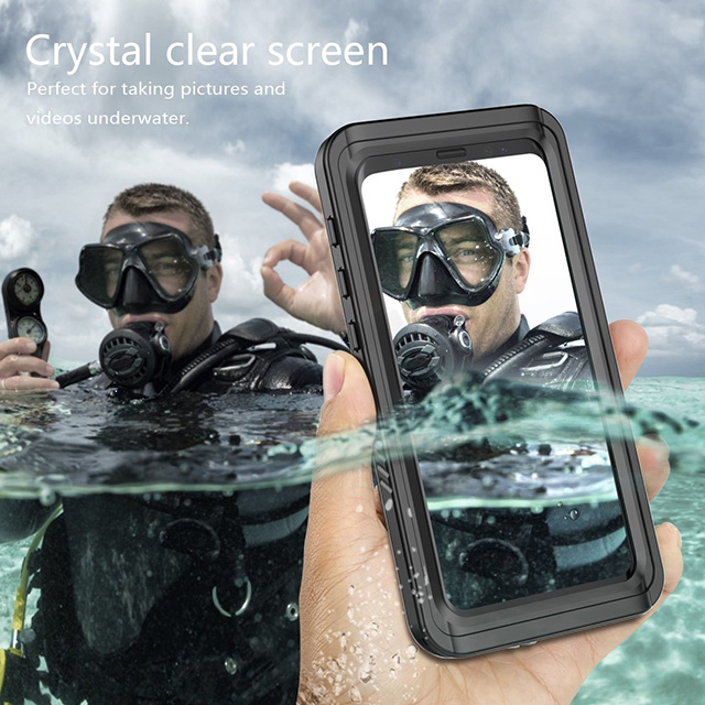 FugouSell Full Sealed Waterproof Case for Samsung Galaxy S9 Plus