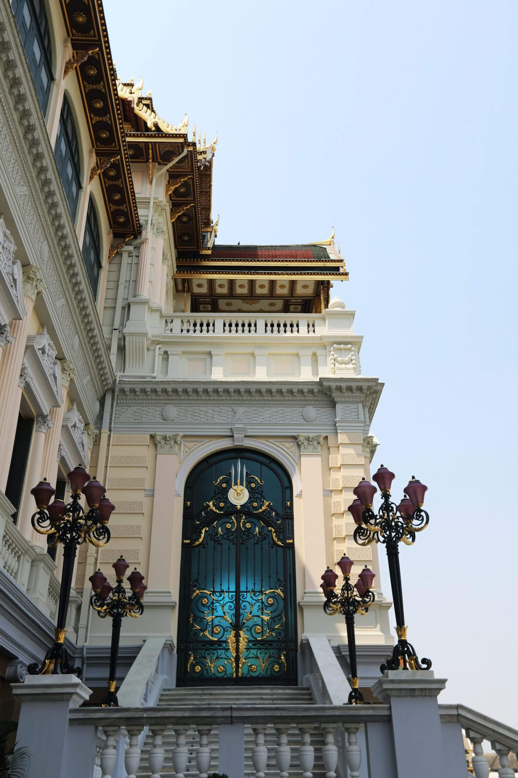 some of the beautiful architecture of the Grand palace.