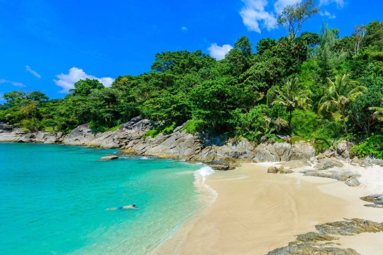 Freedom beach in Phuket Thailand is perfect for a day in the sun