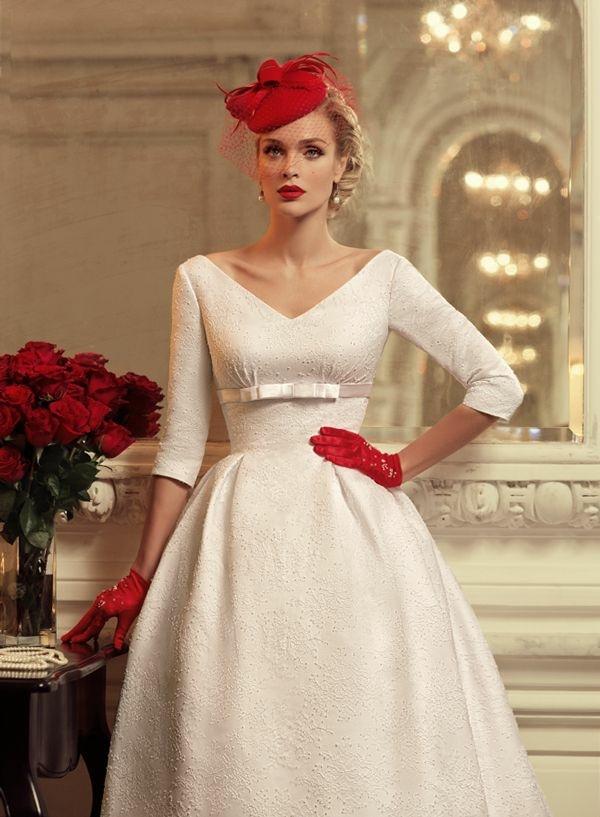 retro suknia ślubna