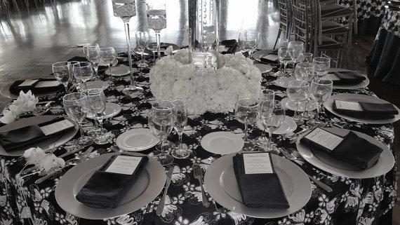 czarno białe wesele