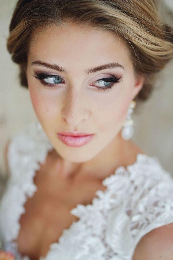 odważny makijaż ślubny
