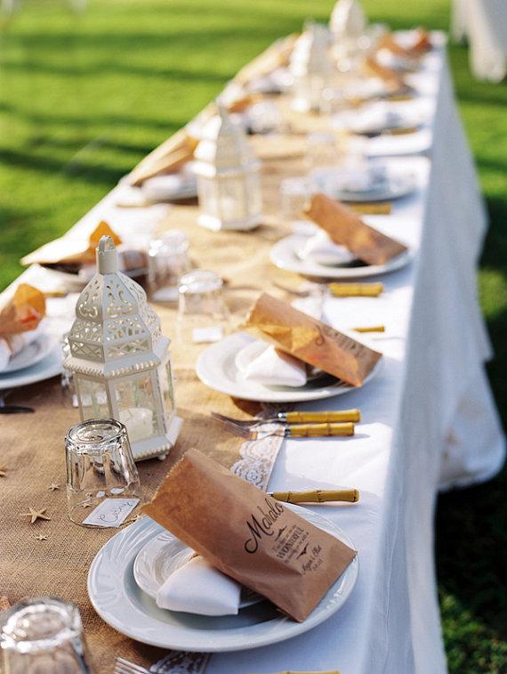 Menu weselne w formie koperty