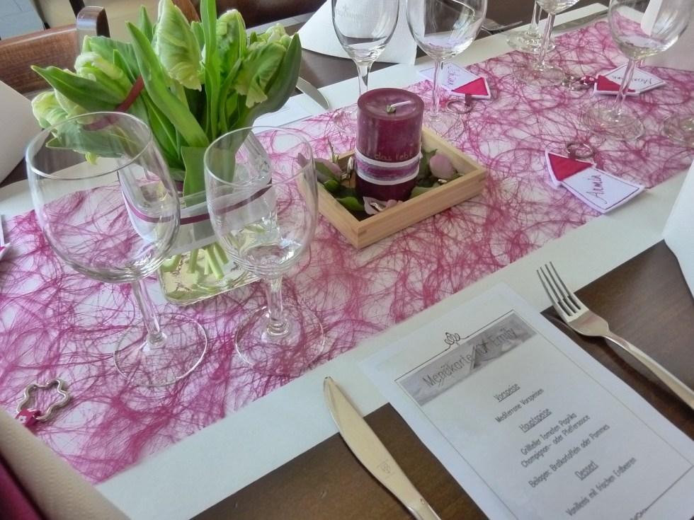 karta z menu weselnym