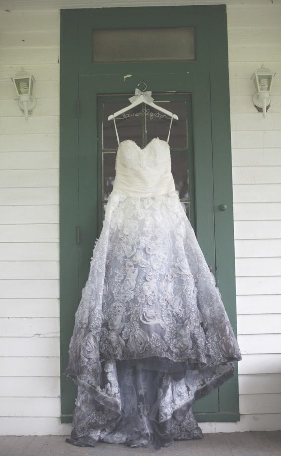 szara suknia ślubna