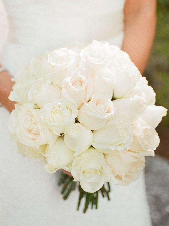 białe bukiety ślubne