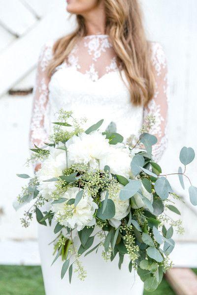 zielone bukiety ślubne