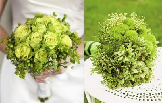 zielony bukiet ślubny dla Panny Młodej