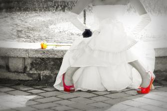 Czerwone dodatki ślubne