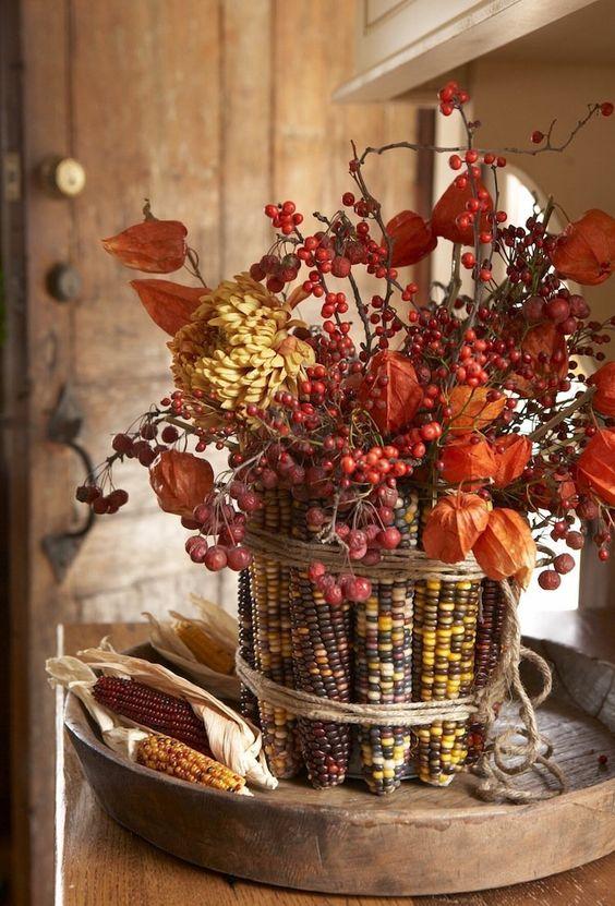 Jesienne liście motyw przewodni