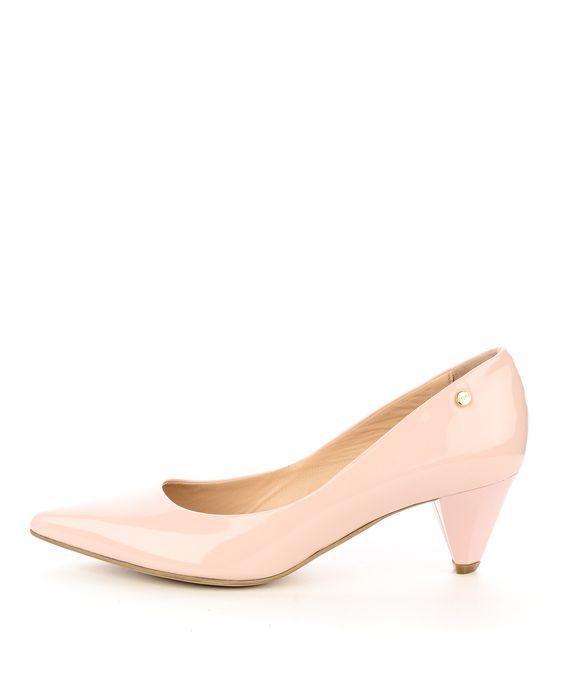 Różowe buty ślubne