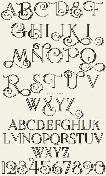 Letterhead Fonts / Encore / Formal Fonts