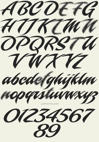 Letterhead Fonts / LHF Piranha Script / Script Fonts