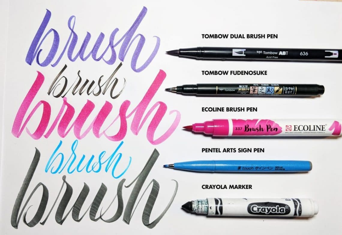 Top 5 Best Brush Pens For Calligraphy