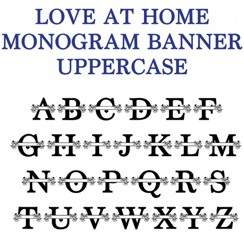 how to print monogram letters