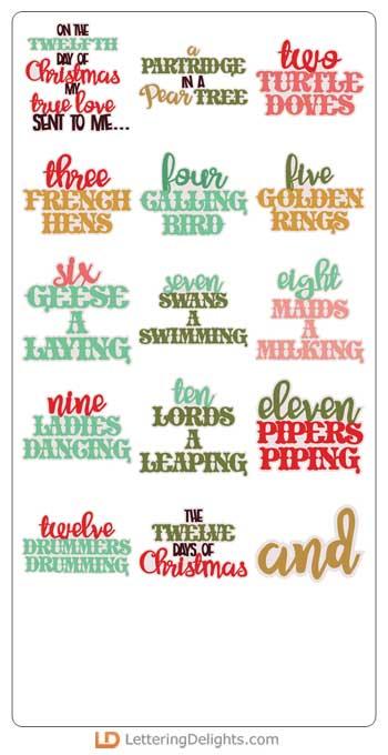 christmas twelve phrases cs